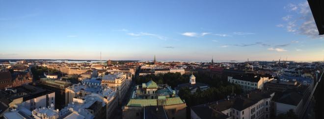 torni, kattoterassi, helsinki, kesä, maisema, kaupunki