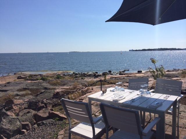ravintola saari, kesä, kesäruokaa, lounas