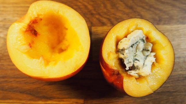 nektariini, grillattu nektariini, aurajuusto