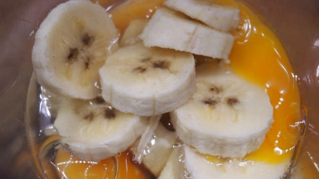 banaaniletut, banaani, kananmuna